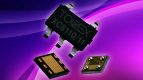 The load switch ICs XC8110 and XC8111 from TOREX.
